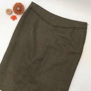 CLUB MONACO Wool Metallic Pencil Skirt